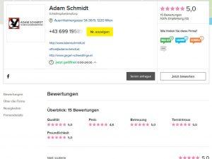 Herold Bewertungen von Adam Schmidt